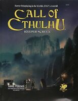 Call of Cthulhu Keeper Screen Horror Roleplaying in the Worlds of H.P. Lovecraf