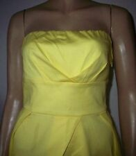PARADIS Yellow Strapless Bandeau Side Zip Summer Party Dress Size 10