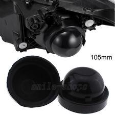 2 x 105mm Inner Dia Rubber Housing Seal Cap Dust Cover For Car LED HID Headlight