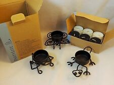 Partylite Little Critters Tealight Trio butterfly, lizard, frog Candles Included