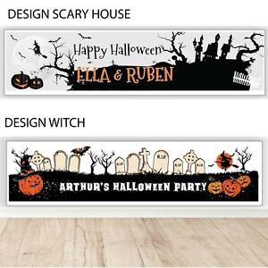 Halloween Personalised Birthday Banner - Children's Halloween Party Banner 2021