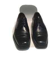 Florsheim Men's Comfortech Black Leather Square Toe Oxford Dress Shoes Sz 10.5D