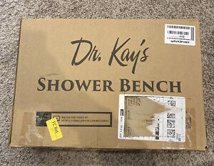 Dr.Kays - White  Shower Bench