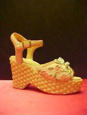 Decorative Miniature Shoe Figurine Sandal Wedge-Heel Wedgie Pop. Imp.