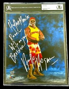 WWE HULK HOGAN HAND SIGNED AUTOGRAPHED PHOTO BECKETT ENCAPSULATED WITH PROOF HH4