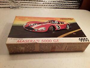 VTG 1965 1/32 scale Maserati 5000 GT by Hawk with box model car junkyard lot