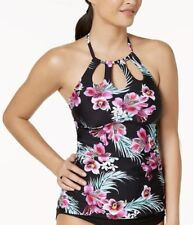a31a2e9dc8a89 Island Escape Women Plus Size 16 Halter Tahiti Tankini Swim Top Swimwear NWT