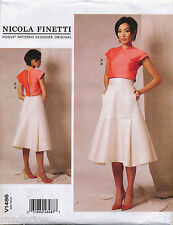 VOGUE SEWING PATTERN 1486 MISSES 6-14 NICOLA FINETTI TOP & FLARED SKIRT