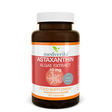 Natural ASTAXANTHIN Algae Extract- 10mg STRONG Antioxidant- NO Fillers- 60 caps