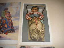 ANTIQUE VINTAGE EARLY 1900`s 8 POSTCARD LOT NATIVE AMERICAN INDIAN CHILDREN