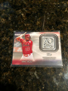 2021 Topps Mike Trout 70th Anniversary Patch Relic