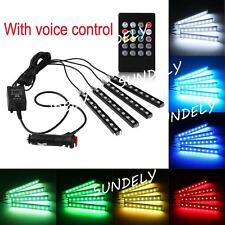 7 Color RGB 9 LED Neon Strip Light With Remote Control For Car Interior Lighting