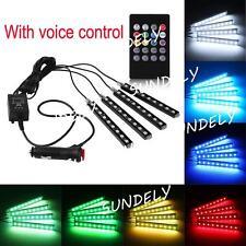 4pcs Multi Color Car Interior LED Atmosphere Light Ambient Lighting DC 12V New
