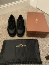 Coach Mens Leather Black Sneakers Shoes Size US 11