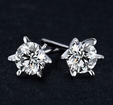 Luxus Ohrringe Ohrstecker mit Swarovski® Kristall Echt 925 Sterling Silber Neu