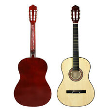 """Beginners Guitar Kids Musical Gift 38"""" Natural Acoustic Guitar W/ Case, Strap"""