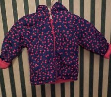 NEW Girls 3 Year Winter Coat Pink with Bow Pink Fleece Inside NWOTags Blue/PInk