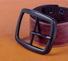 DIY Black Center Bar Pin Belt Buckle Replacement for Leather Belt Fit 40mm Strap