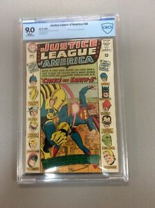 JUSTICE LEAGUE OF AMERICA  #38 CBCS 9.0 Near MInt  Justice Society Appearance
