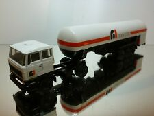 LION CAR DAF 2800 TRUCK + TANKER HOEKLOOS - WHITE 1:50 WERBE PROMO - FAIR/GOOD