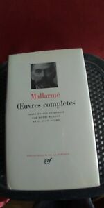 MALLARME OEUVRES COMPLETES BIBLIOTHEQUE PLEIADE GALLIMARD CUIR PARIS 1974