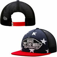42736e69 Vans Off The Wall Beach Girl USA Stars Peacoat Trucker Hat NWT One Size  Snapback