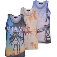 Firetrap Mens Designer Vest Sublimation Print Sleeveless Summer Fashion Tank