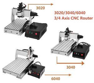 3/4 Achse 6040/3040/3020 CNC Router Fräsmaschine Metall Fräsmaschine Fräsen