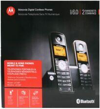 2 Motorola Cordless Digital Home Phone Handset Caller ID Answer System Bluetooth