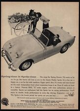 1960 AUSTIN-HEALEY Sprite Convertible Car - Woman & Flowers Bored Man VINTAGE AD