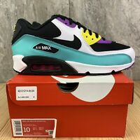 Nike Air Max 90 Essential Size 10 Mens Black White Bright Violet Casual Shoes