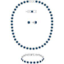 Swarovski Crystal Angelic All Around Jewelry Set Blue #5166808 Brand Nib F/Sh