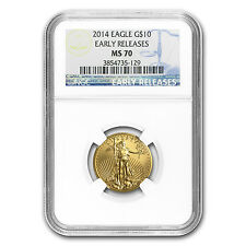 1/4 oz Gold American Eagle MS-70 NGC (Random Year) - SKU #83505