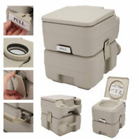 Gray Portable Toliet 5 Gallon 20L Outdoor Flush Camping Travel Toilet Potty