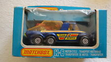 """MATCHBOX SUPER KINGS No.K-6 M/CYCLE TRANSPORTER WITH """" RED RACER BIKE"""""""