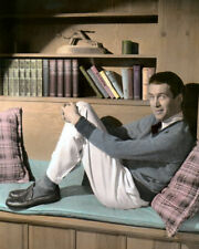"JAMES ""JIMMY"" STEWART HOLLYWOOD ACTOR 8x10"" HAND COLOR TINTED PHOTOGRAPH"