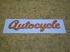 Mint Vintage OEM Schwinn Approved Autocycle Bicycle Downtube Decal