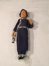 Fisherman Antique Doll Porcelain Face Wood Legs & Wire Arms- Japanese Old Woman