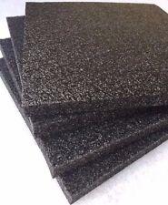 "4 pack 1"" x 12"" x 12"" Black Polyethylene foam 1.7pcf *FREE SHIPPING"
