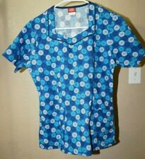 Dickies S shades of blue print short sleeve scrub top good condition