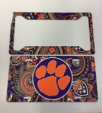 Clemson Tigers License Plate & Tag Frame Metal Paisley Tag & Tag Frame New