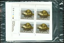 Canada sc#1157 Mammal : Muskrat, Match Set Imprint Block, Mint-Nh