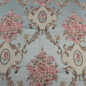 Classic Flower Brocade Fabric Damask Jacquard Garments Upholstery Fabric BY YARD