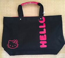 Hello Kitty Canvas Black/Red Large Tote Bag