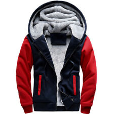 Plus Size Mens Winter Warm Thick Fleece Lined Hooded Hoodie Jacket Coat Outwear