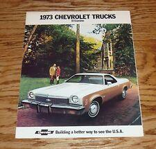 Original 1973 Chevrolet El Camino Foldout Sales Brochure 73 Chevy