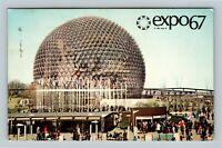 Montreal QC, Expo 67, US Pavilion, Chrome Quebec Canada c1967 Postcard