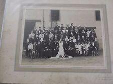 ANCIENNE PHOTO DE MARIAGE -BOURBON LANCY  -  N18