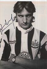 David Ginola Newcastle United Revista Foto Firmada a mano.