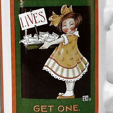 Mary Engelbreit Little Girl Offering Lives Take One Age Mug Cup Coffee Tea